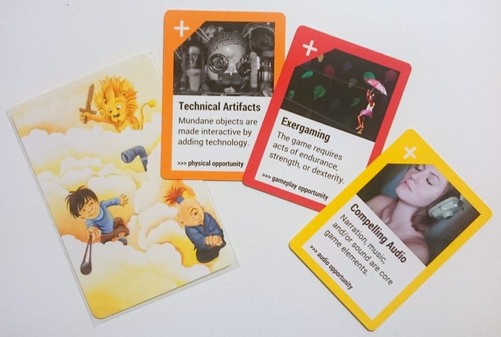Technical Artifacts, Exergaming, Compelling Audio, and a Dixit Card